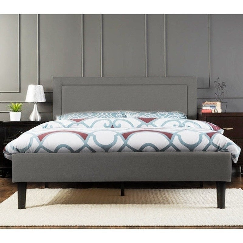 Portsmouth Double Size Linen Fabric Bed Frame - Grey