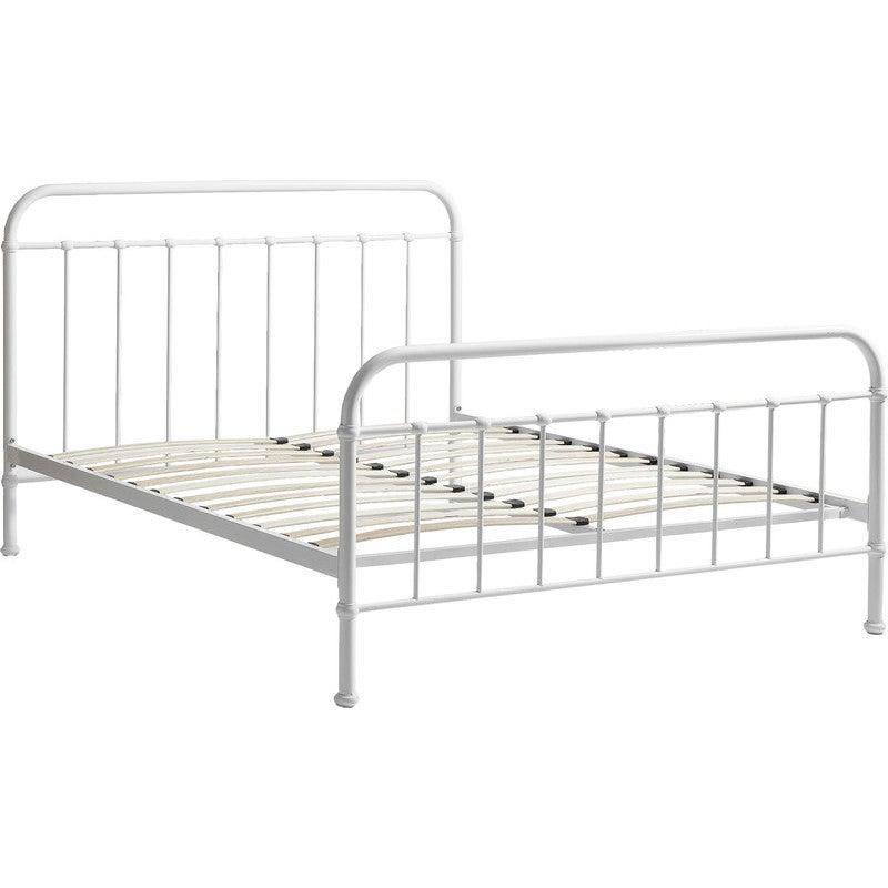 York Queen Size Modern Metal Bed Frame, Monaco Queen Bed Frame