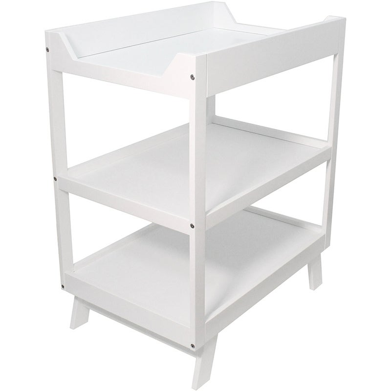 3 Tier Bebe Care Timber Baby Change Table in White