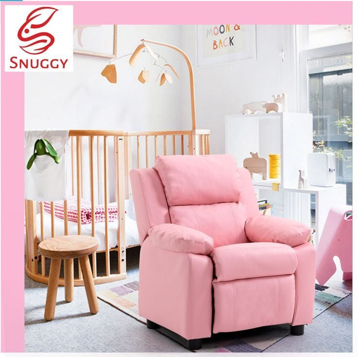 Kids Recliner PU Sofa Children Lounge Chair Couch Armchair Pink