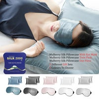 Ramesses Skin and Hair Care Thermo-Regulating Cooling Mulberry Silk Pillowcase & Eye Mask