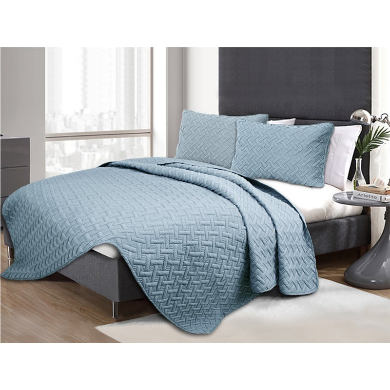 3 Piece Ramesses Bamboo Style Grand Hotel Collection Embossed Comforter Set