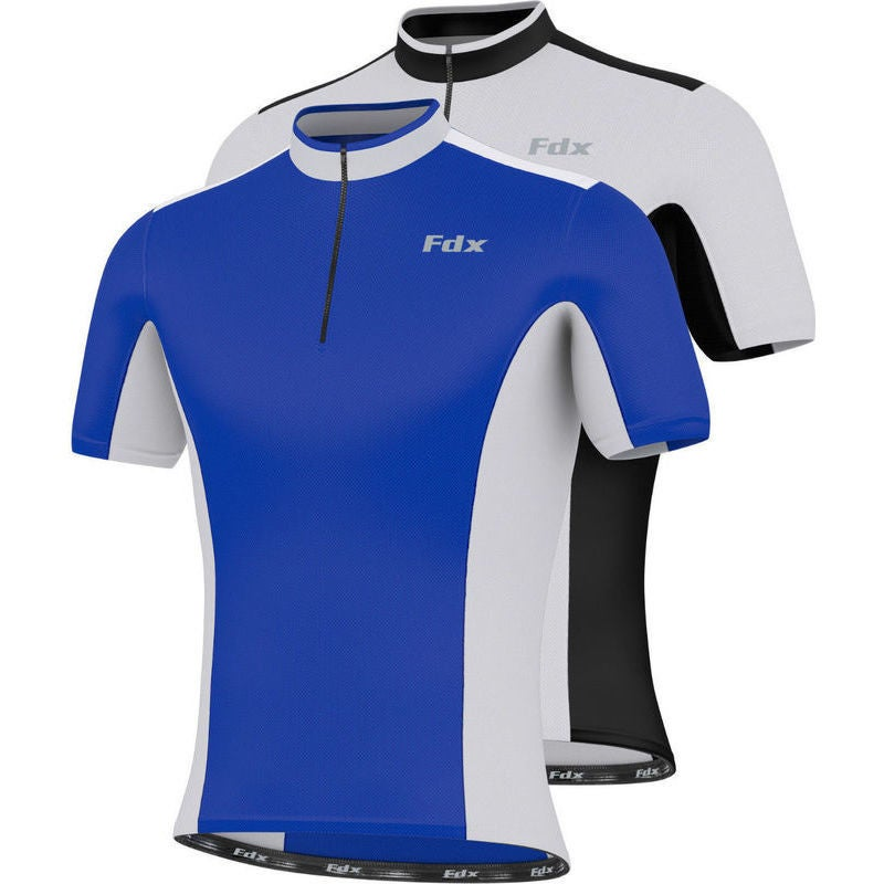 FDX Mens Cycling Half Sleeve Jersey Top 2 Colours