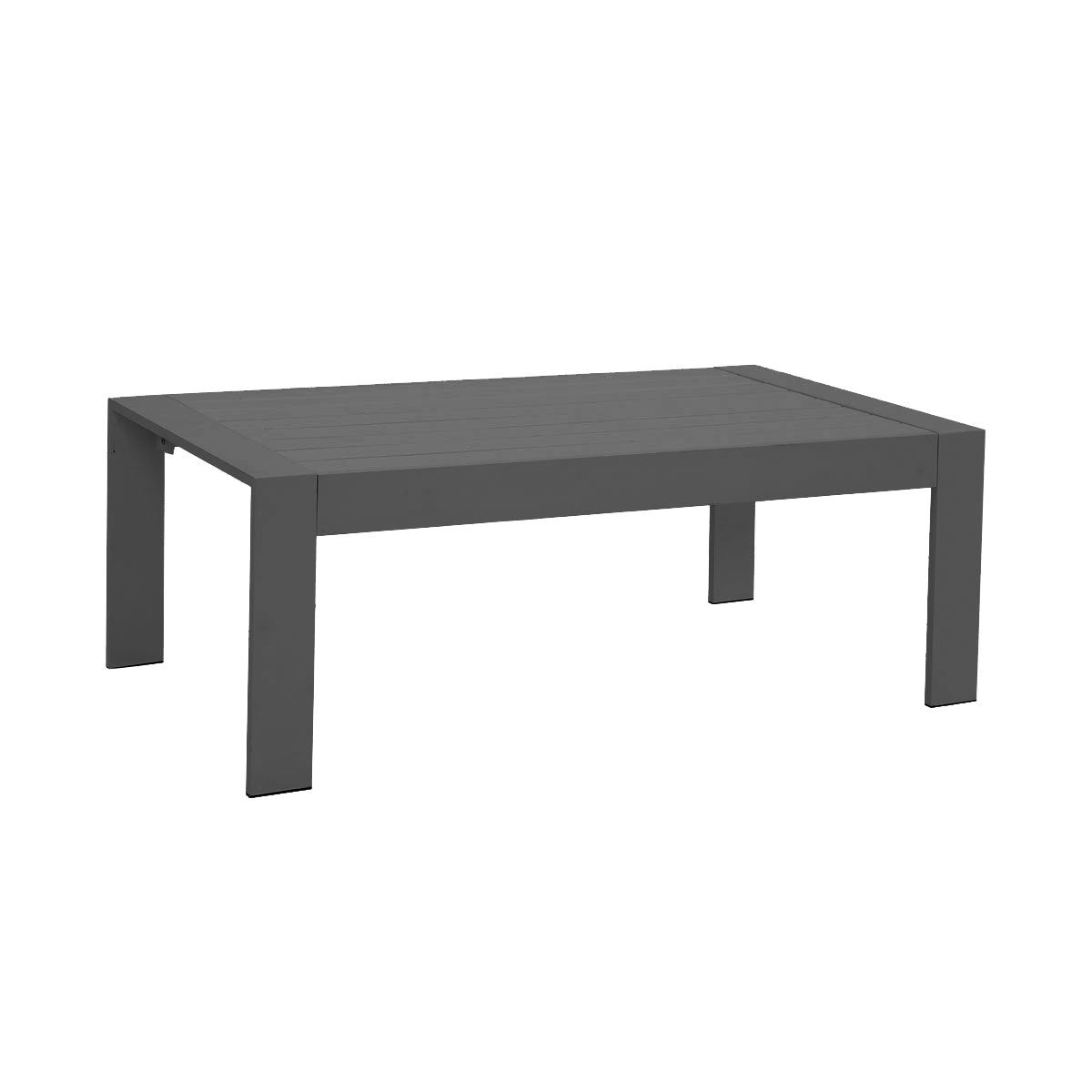 Paris Charcoal Aluminium Outdoor Coffee Table with Polywood Top (100x50cm)