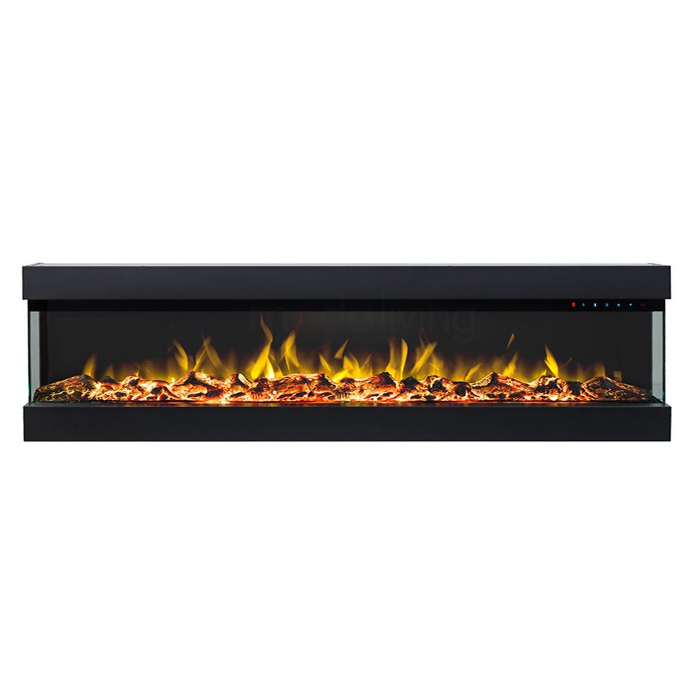 Zevoko 1600W 3 Sided 72 Inch Recessed / Wall Mounted Electric Fireplace