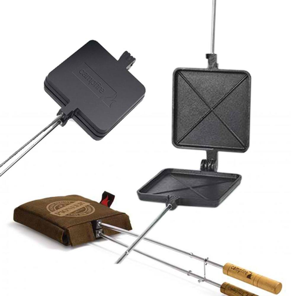 Jaffle Iron Aluminium Single and Canvas Bag Combo Pack