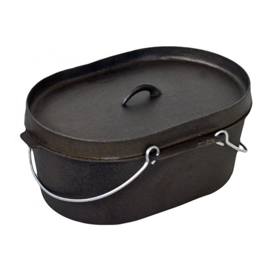 Supex Preseasoned Oval Dutch Oven 10 quarts