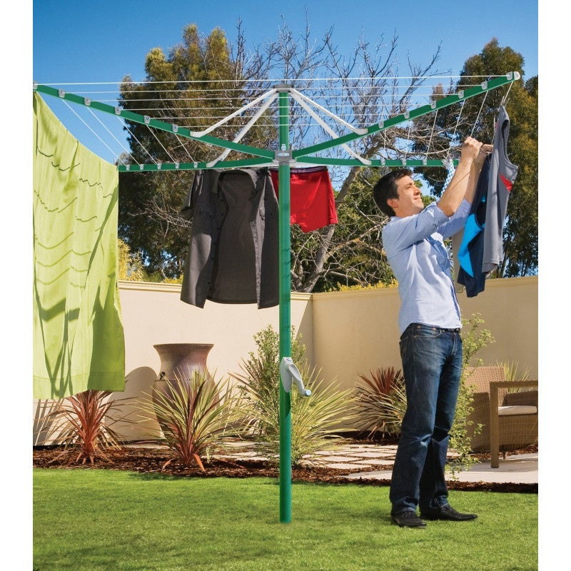 Hills Clothesline Rotary 6 Premium Range Removable Forest Glade Green FD88004