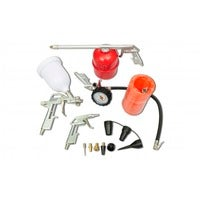 vidaXL Air Tool Set Kit Spray Paint Gun for Compressor Spraying Painting Tool