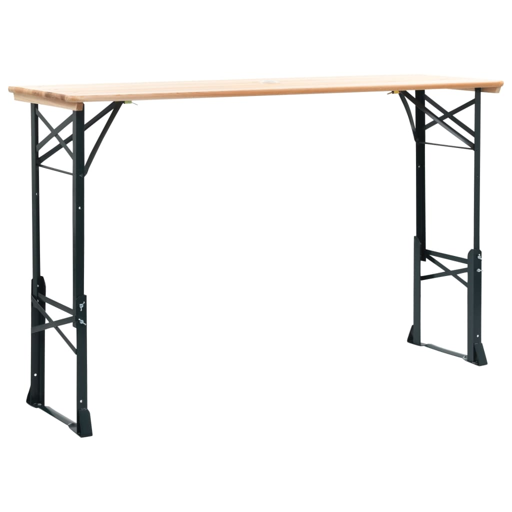 vidaXL Outdoor Picnic Beer Table Wood Dining Coffee Foldable Garden Furniture