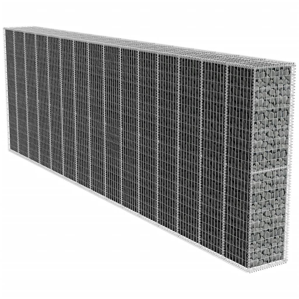 Gabion Retaining Wall 6x0.5x2m Galvanized Steel Mesh Wire Stone Basket