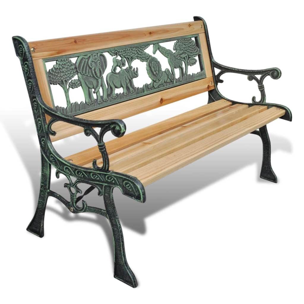 vidaXL Children Garden Bench Wood Outdoor Park Kids Lounge Seat Furniture