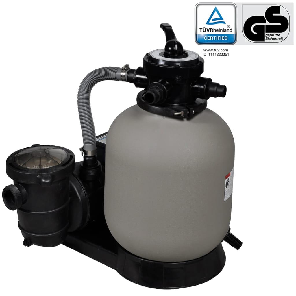 Sand Filter Pump 600W 17000l/h Swimming Pool Cleaning Filtration