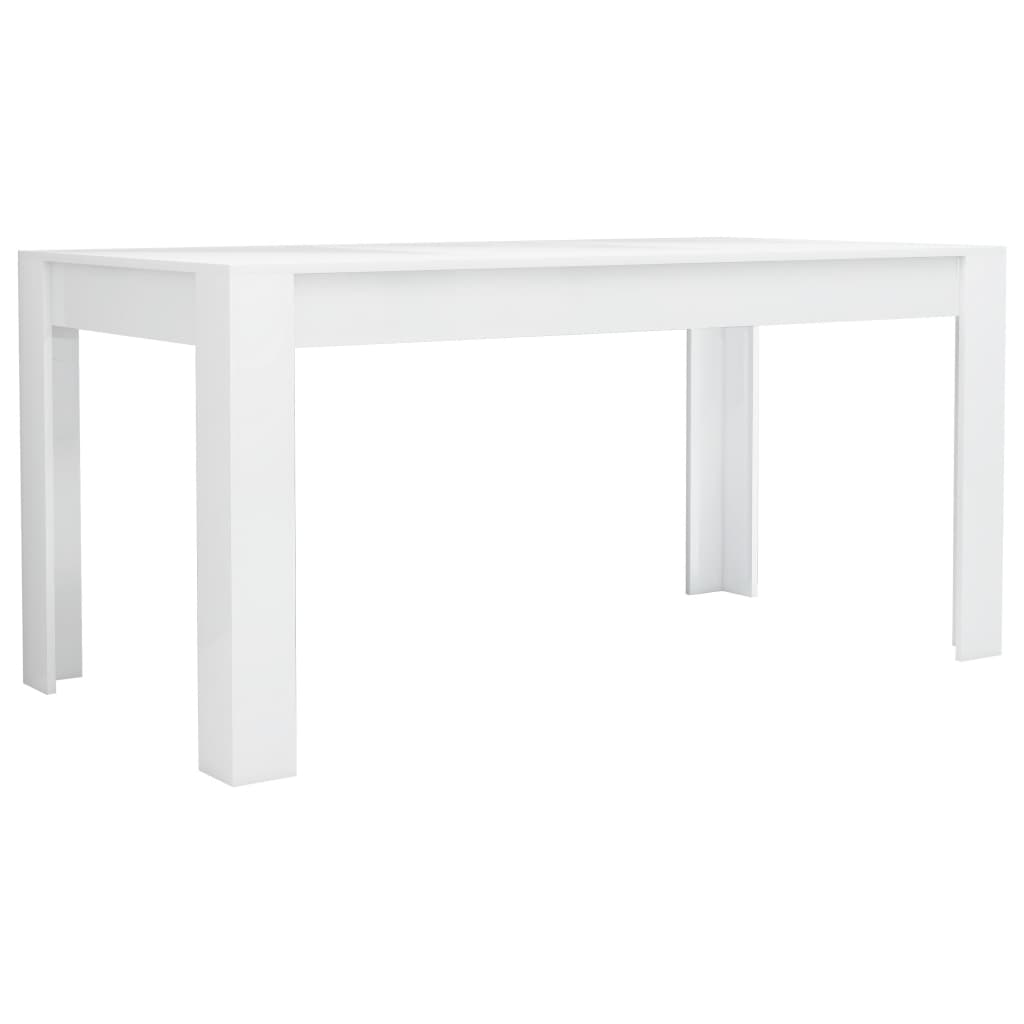 vidaXL Dining Table High Gloss White 160cm Chipboard Kitchen Dinner Desk