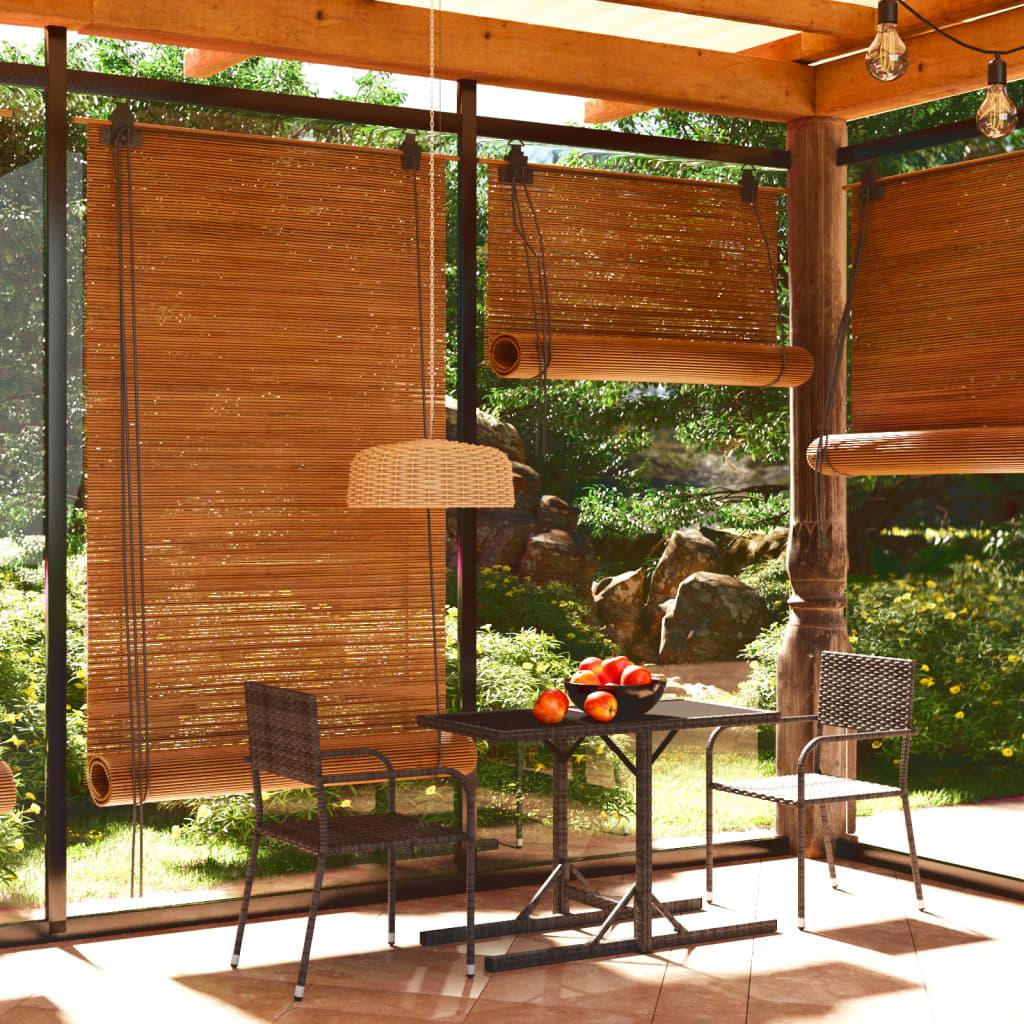 vidaXL Garden Dining Set 3 Piece Grey Outdoor Patio Table and Dinner Chairs