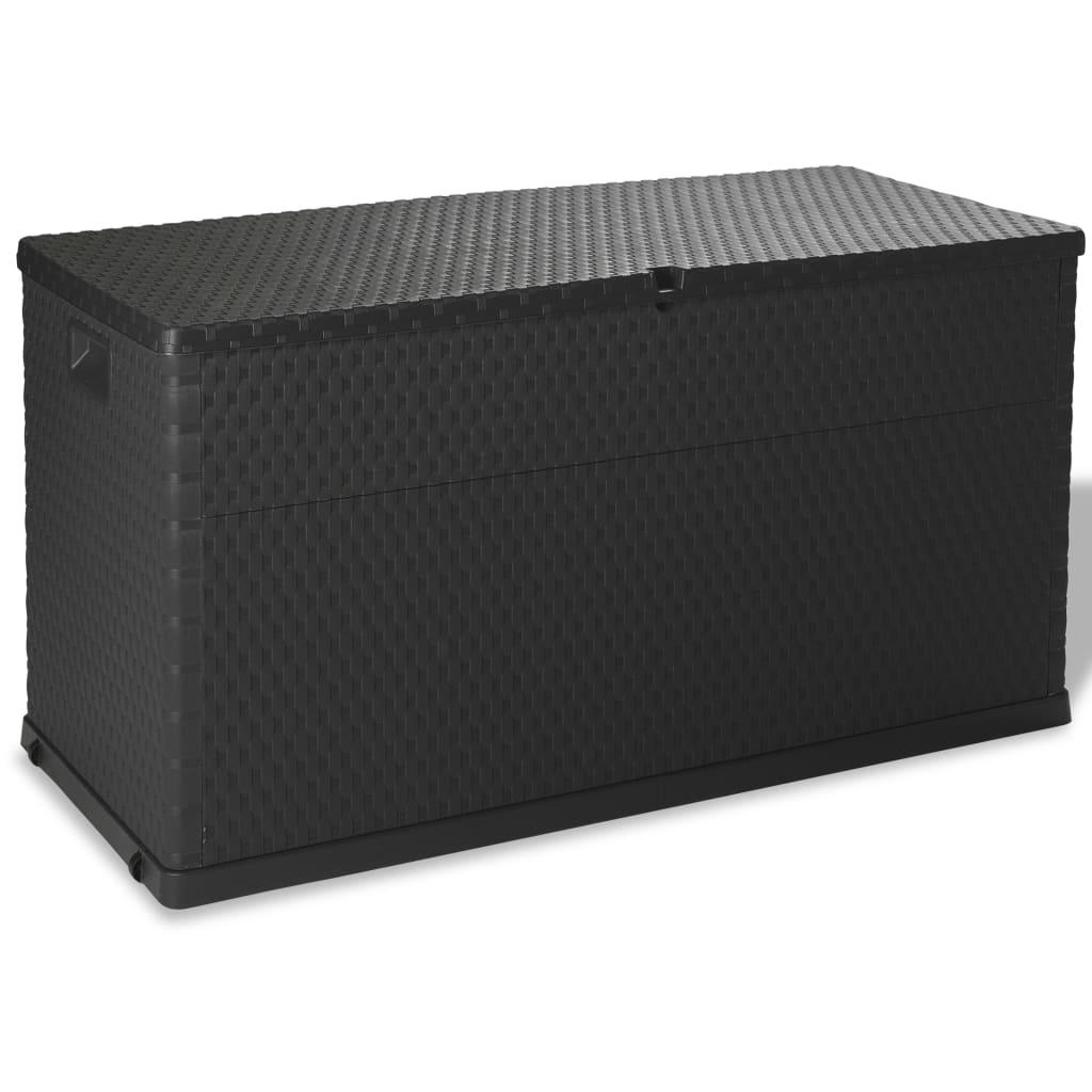 vidaXL Garden Storage Box 420L Anthracite Container Weatherproof Patio Chest