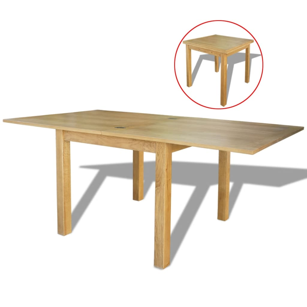 Oak Wood Extendable Table Kitchen Dining Room Furniture 85/170x85x75cm