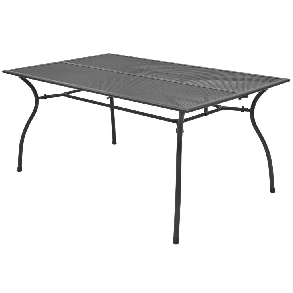 vidaXL Outdoor Dining Table Steel Mesh 150x90x72cm Garden Patio Furniture
