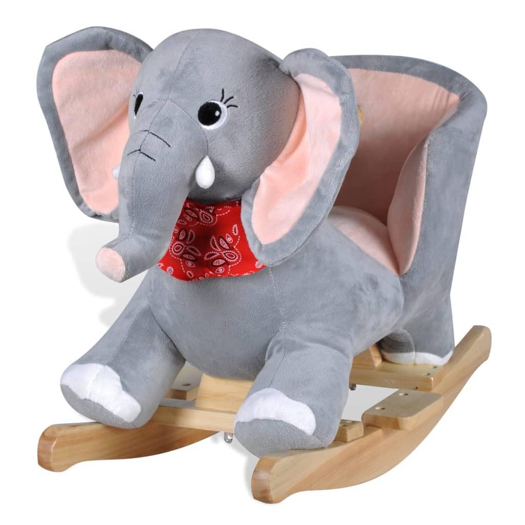 vidaXL Rocking Animal Elephant Children Kids Ride On Rocker Chair Walker Toy