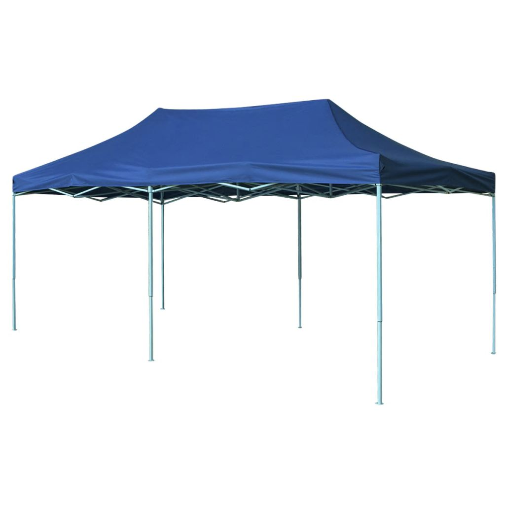 Foldable Tent Pop-Up 3x6m Blue Garden Gazebo Canopy Steel Party Marquee