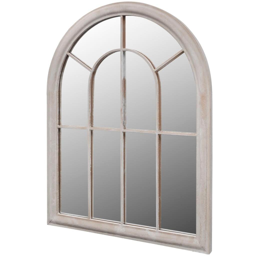 vidaXL Rustic Arch Garden Mirror 89cm Outdoor Arch Window vintage Glass Wall