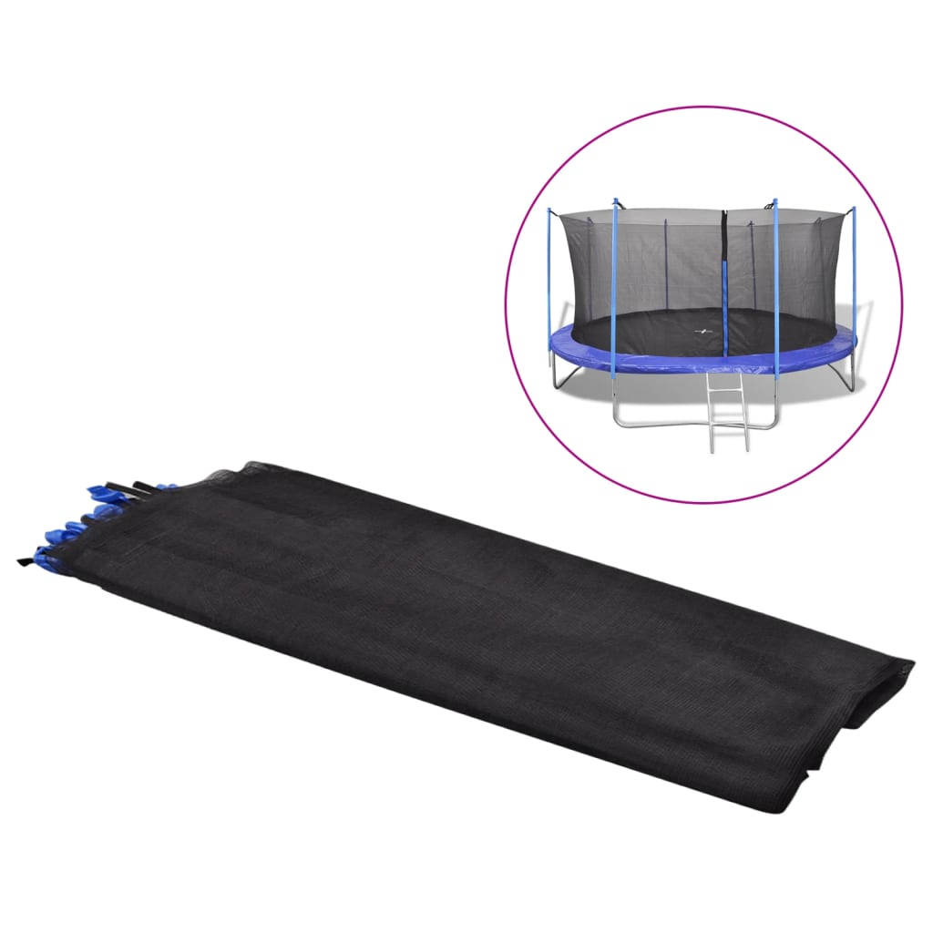 Safety Net PE Black for 3.66m Round Trampoline Security Enclosure Mesh
