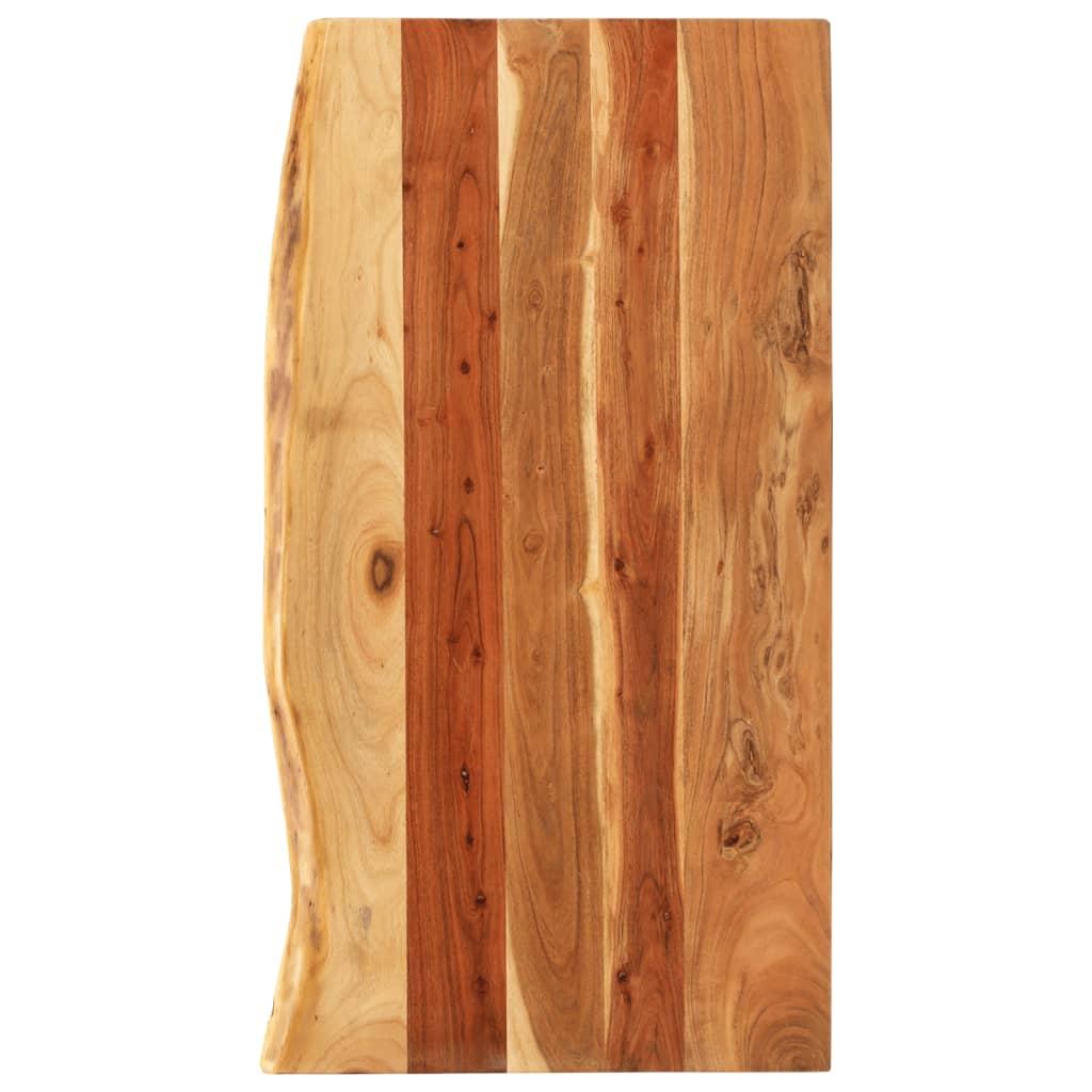 Solid Acacia Wood Bathroom Vanity Top 100x55x2.5 cm Washroom Worktop
