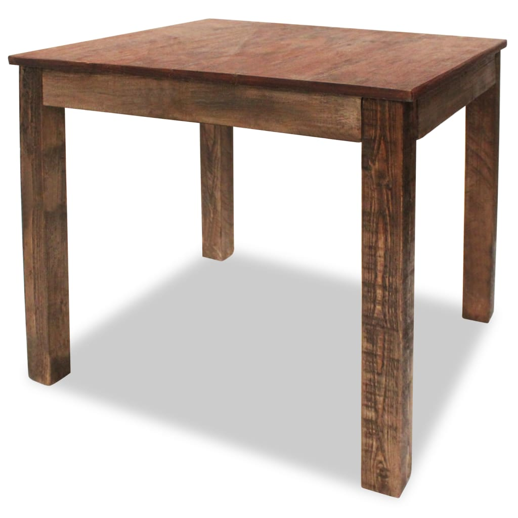 vidaXL Solid Reclaimed Wood Dining Table 82x80x76cm Home Kitchen Furniture