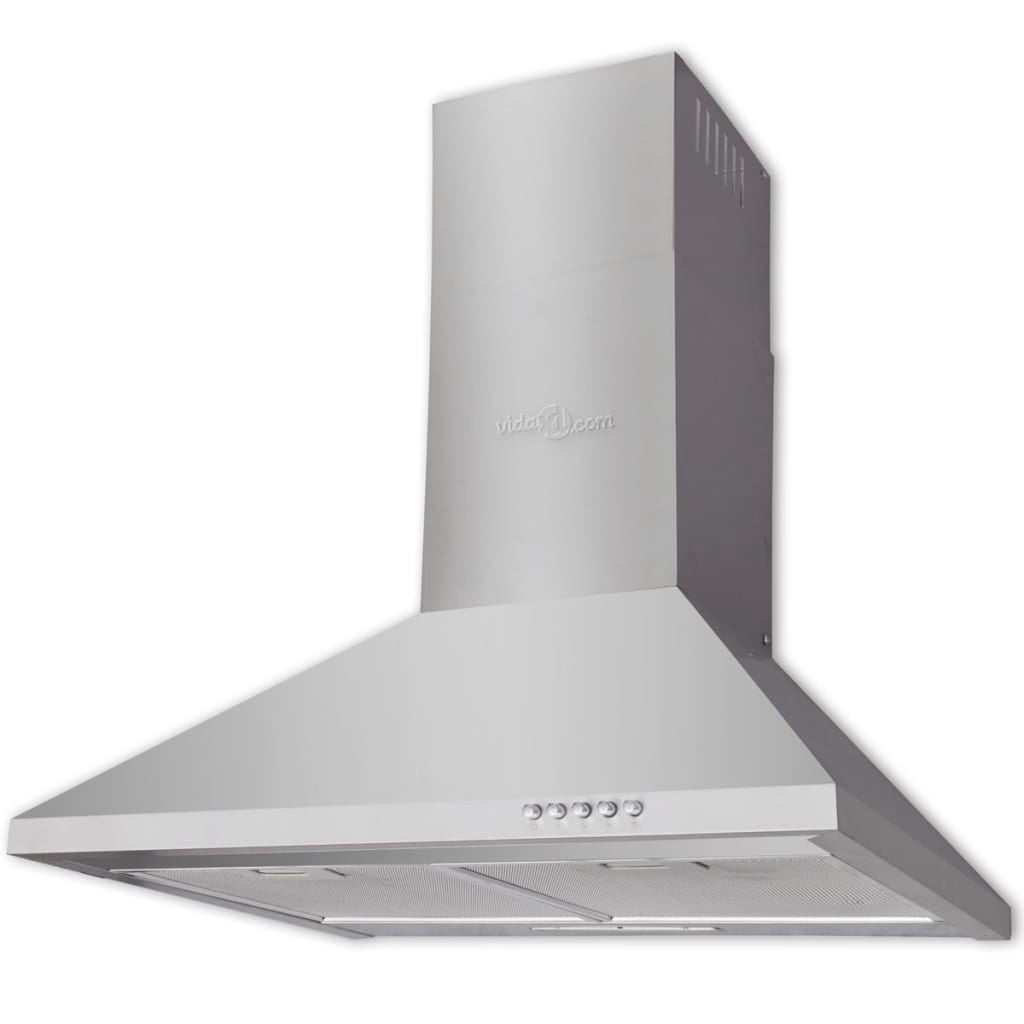 vidaXL Stainless Steel Range Hood 600mm Kitchen Chimney Style Over Stove Vent