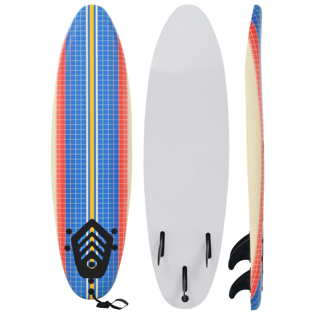 Surfboard XPE for Kids Adults Mosaic 170cm Removable Fin Lightweight