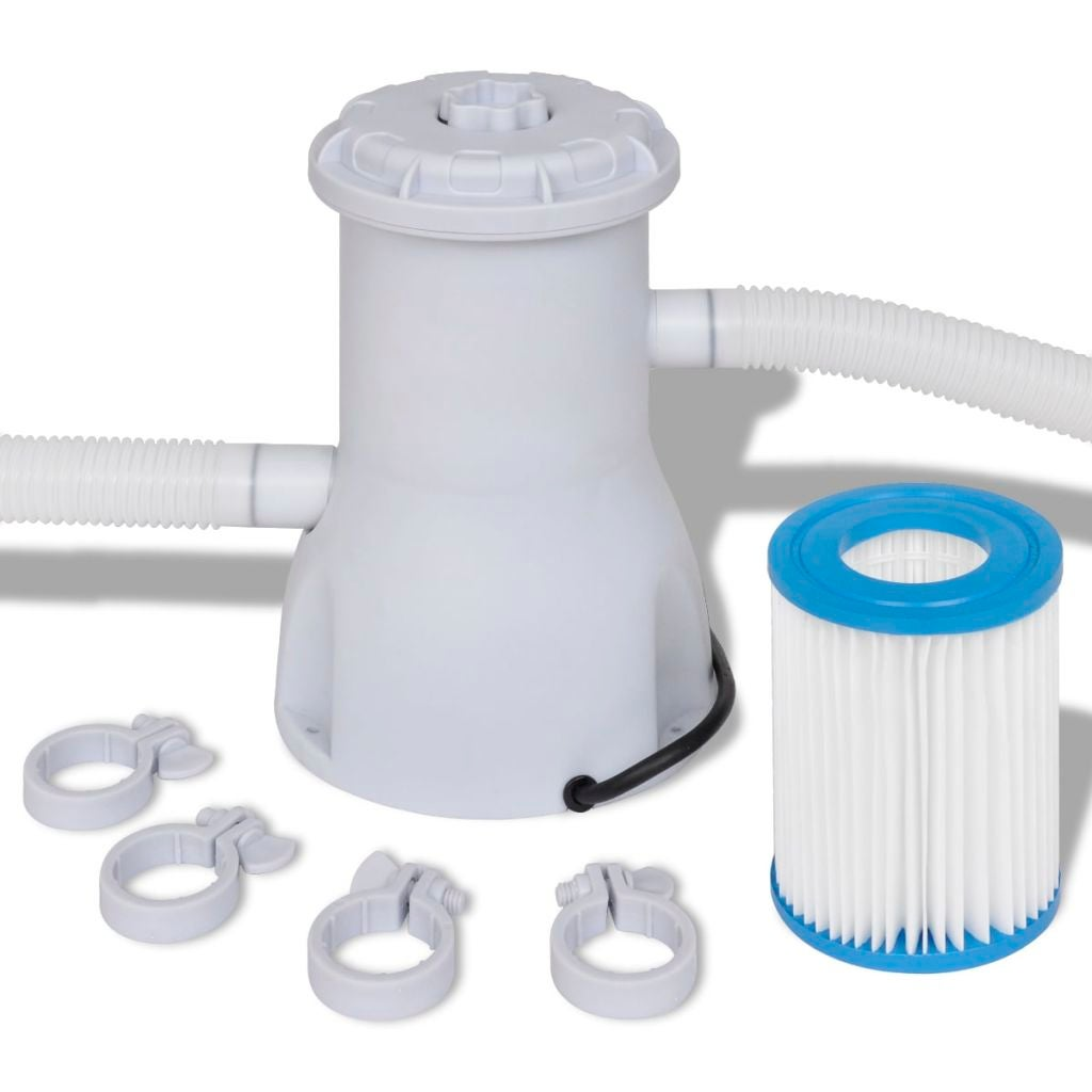 Swimming Pool Filter Pump with Catridge 800 gal/h Above Ground Pools