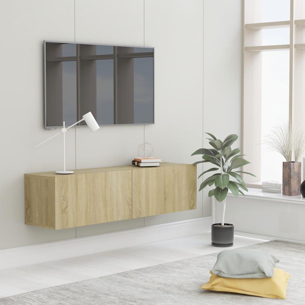 TV Cabinet Sonoma Oak 120x30x30cm Chipboard Living Room Furniture Stand