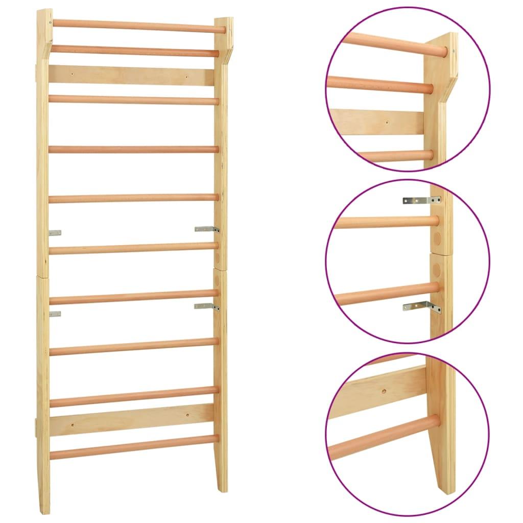 Wall Bar 80x15.8x195cm Wood Home Gymnastic Climbing Rack Sports Ladder