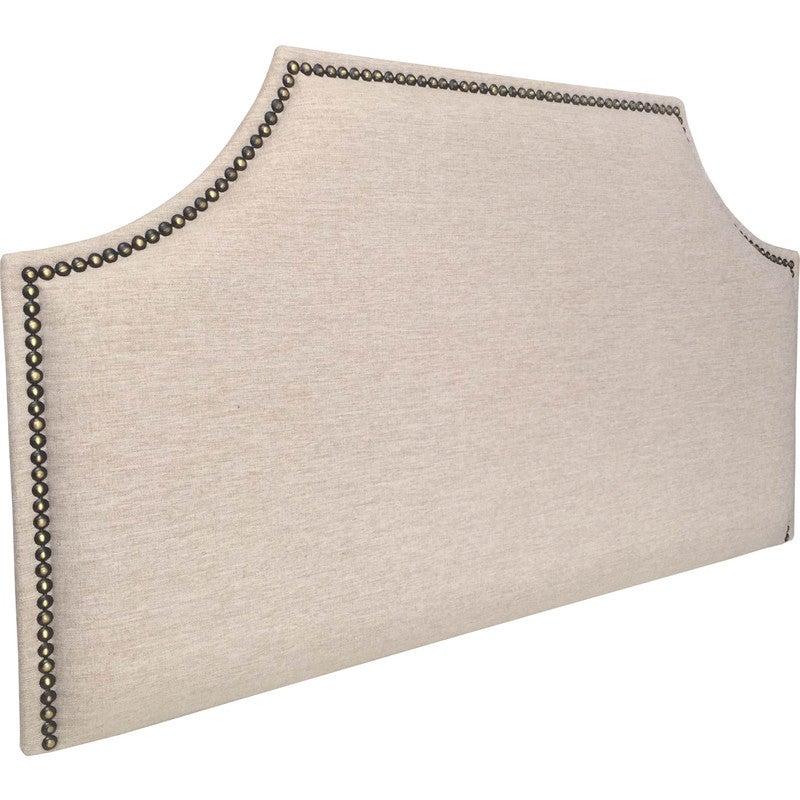 Thomas Single Fabric Bronze Studded Bed Head Husk