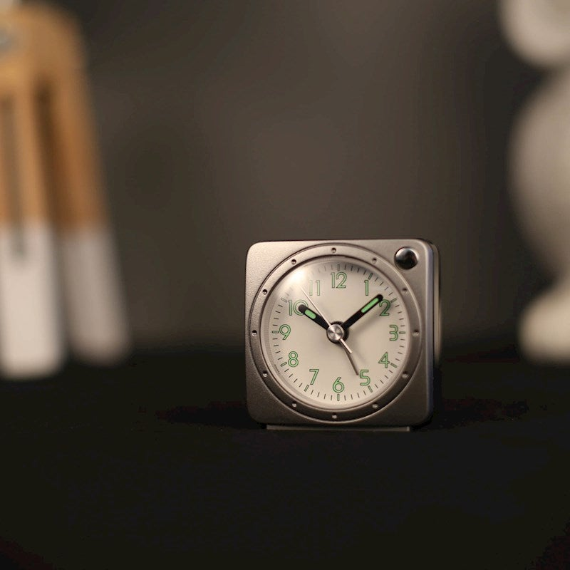 TFA Germany Grey Electronic Alarm Clock with Snooze - 5.5cm