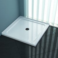 Square Acrylic Shower Base in White 900x900mm