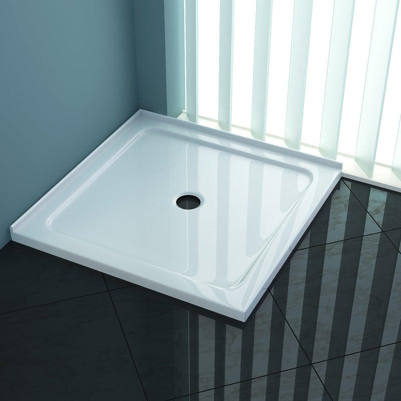Elegant Showers Square Durable Acrylic Fiberglass Shower ...