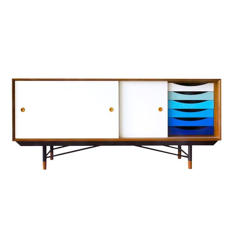 Replica Finn Juhl Sideboard - Scandinavian White Doors
