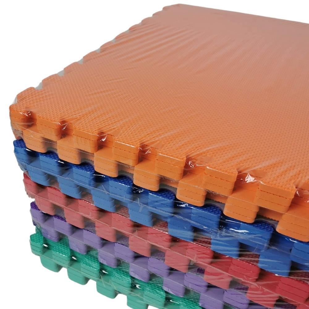 EVA 60 x 60cm Interlock Foam Mats Solid Floor Tile Pk6