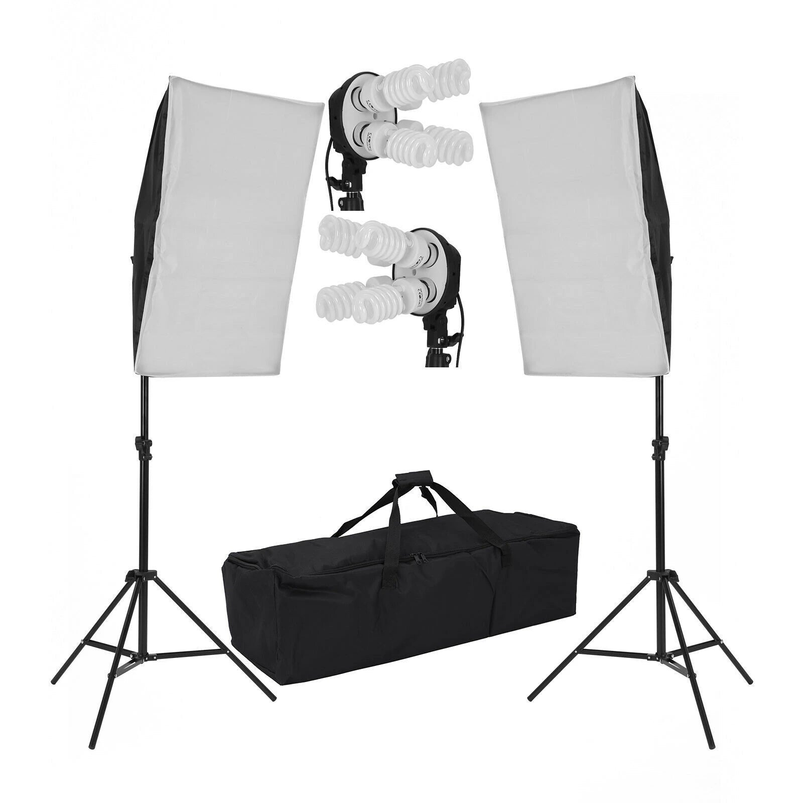 2200W Photo Studio Soft Box Continuous Light Video Softbox Lighting Stand Kit