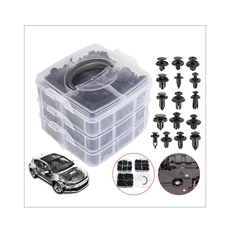 620PCS Car Body Trim Clips Retainer Bumper Auto Panel Push Plastic Fastener Kit