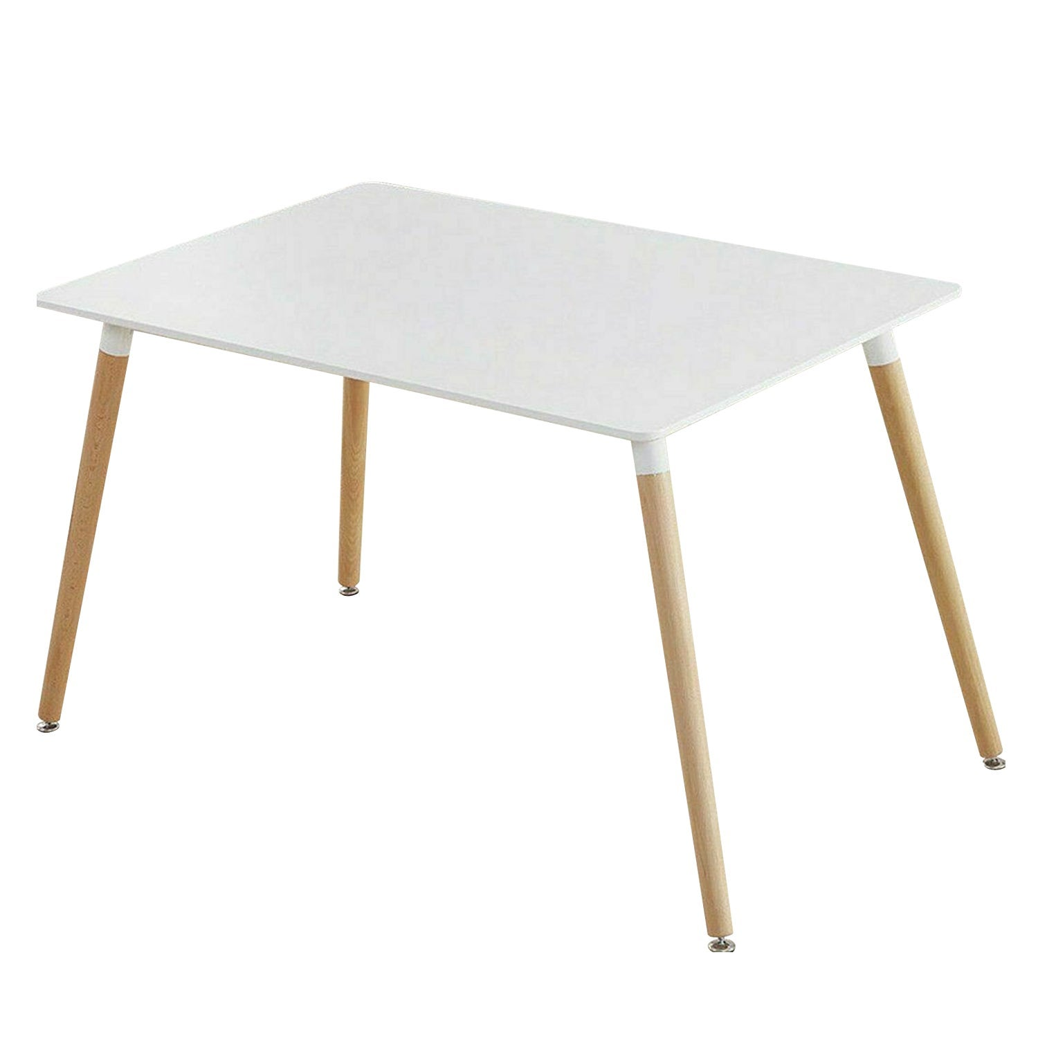 Cafe Wooden Top Replica Tables Modern Pop Hot Square Dining Table White