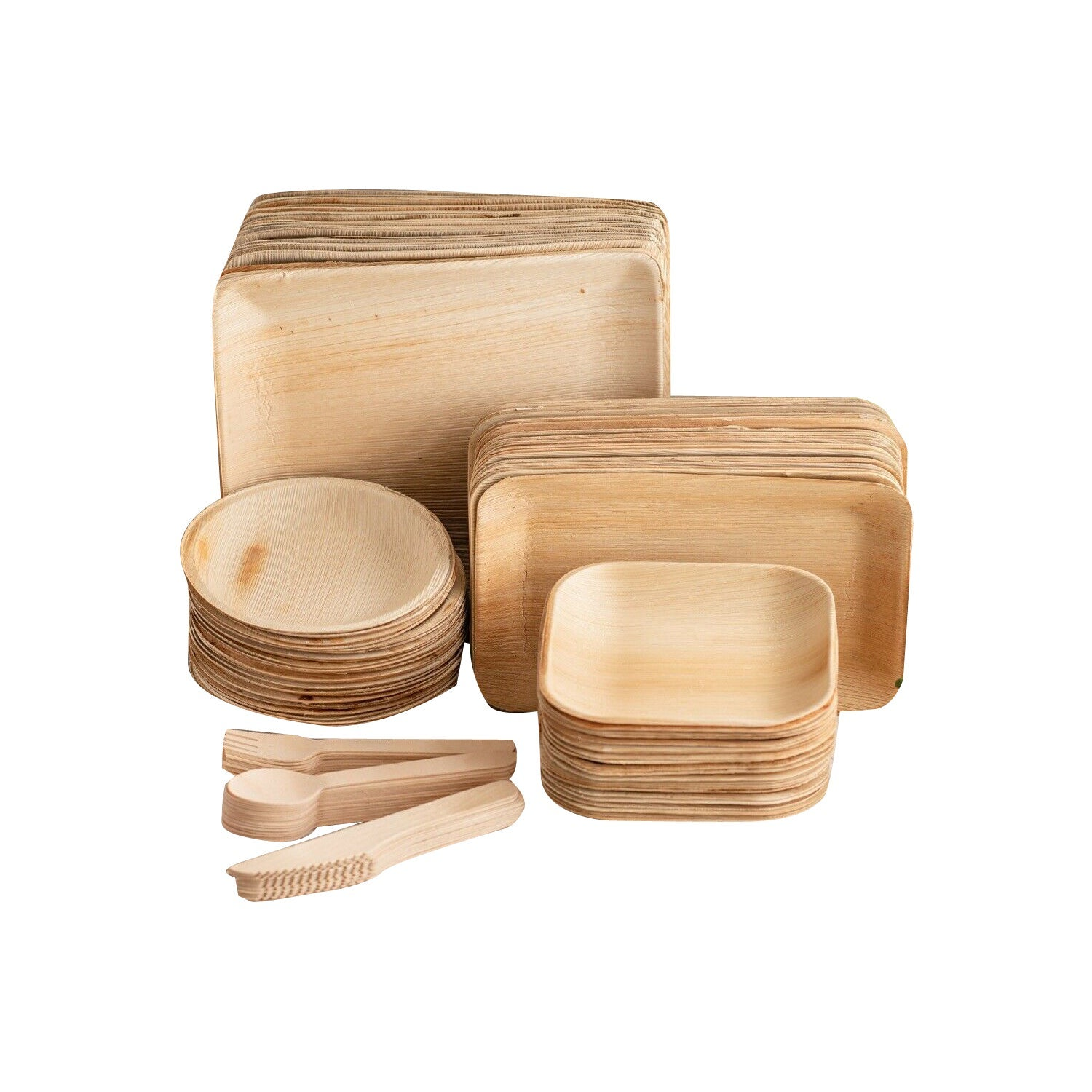Disposable Biodegradable Compostable EcoFriendly Plate Cutlery Party Dinner Pack