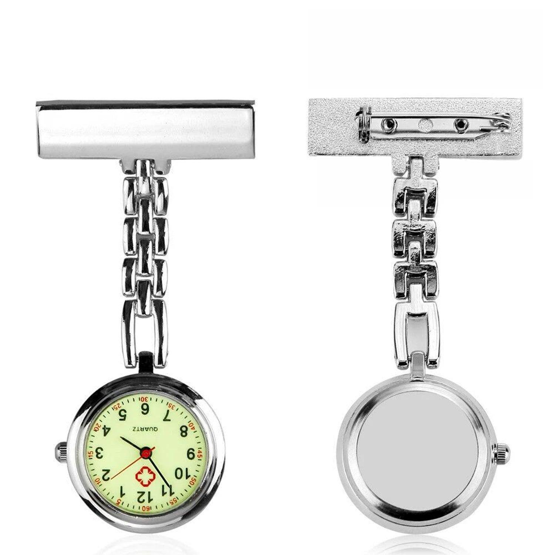 Nurse Nursing Metal Watch Luminous Glow in Dark Face Pendant Fob Pocket Quart
