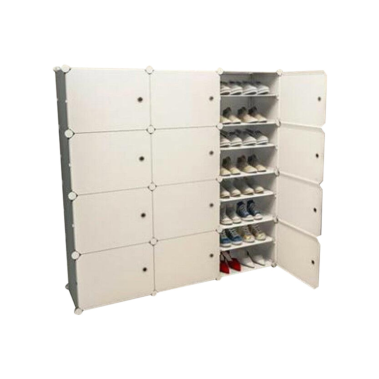 White Cube DIY Shoe Cabinet Rack Storage 3 Column 8 Row
