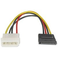 Astrotek SATA Power Cable 15cm 4 pins Male to 15 pins Female 18AWG RoHS