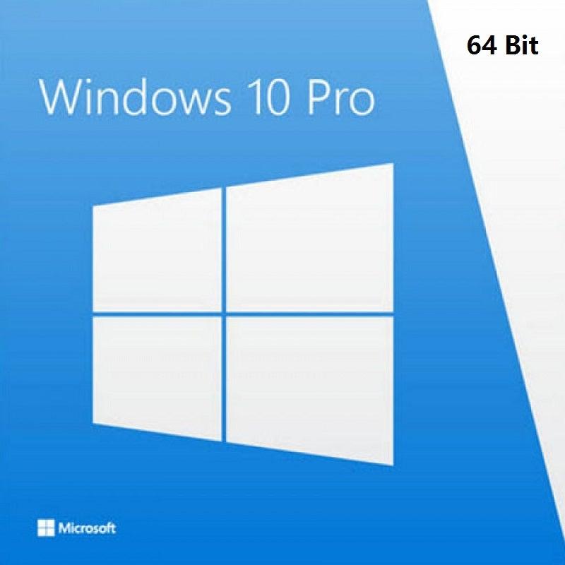 Microsoft FQC-08929 Genuine Microsoft Windows 10 PRO 64 Bit Full Version with DSP OEI DVD Disc & Key