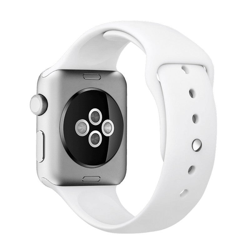 NewBee WAT-NB-42WHG2 Sports Silicone Bracelet Strap Band For Apple Watch IWatch 42/44mm White