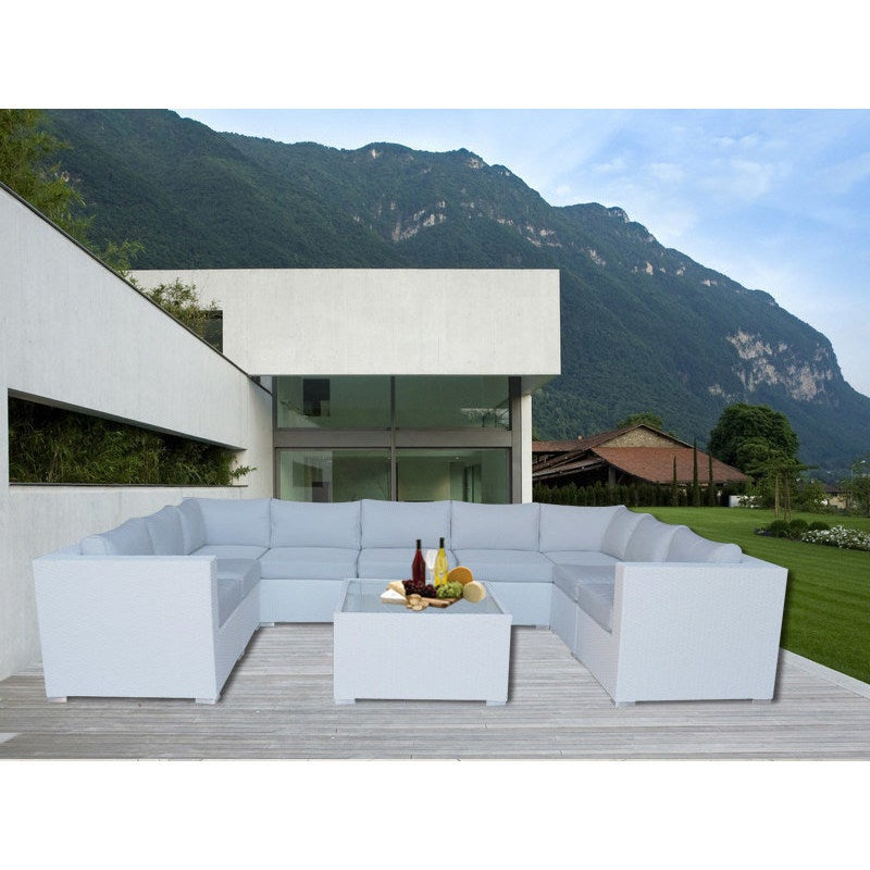 Grand Jamerson Modular Outdoor Lounge Set in White