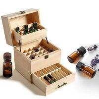 25 Slot Wooden Essential Oil Storage Box